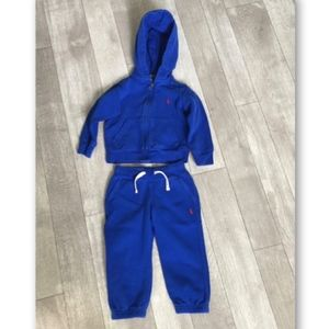 Polo Ralph Lauren Hoodie Sweat Suit Size 2/2T